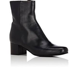 New BARNEYS NEW YORK Black Leather Ankle Boots